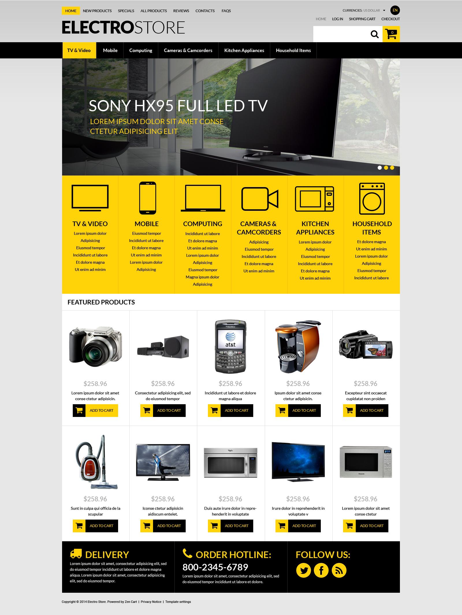 TechSavvy eStore ZenCart Template