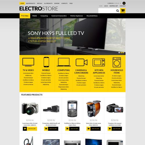 Electro Store - HTML5 ZenCart Template