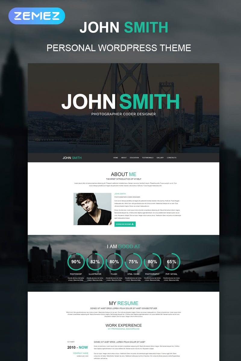 "Tema De WordPress ""Online CV"" #51241"