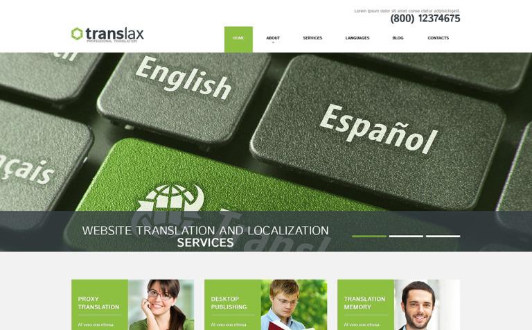 Tema de WordPress #51224 para Sitio de Agenciad de traducción