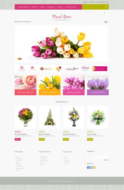 Responsive Tema Magento #51290 para Sitio de  para Tienda de Flores
