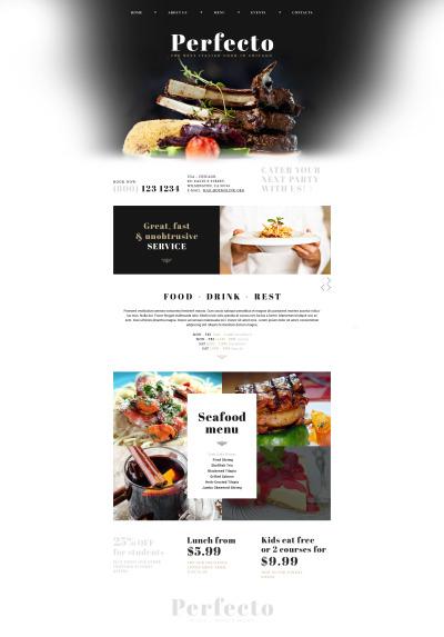 Italian Restaurant Responsive Template Siti Web