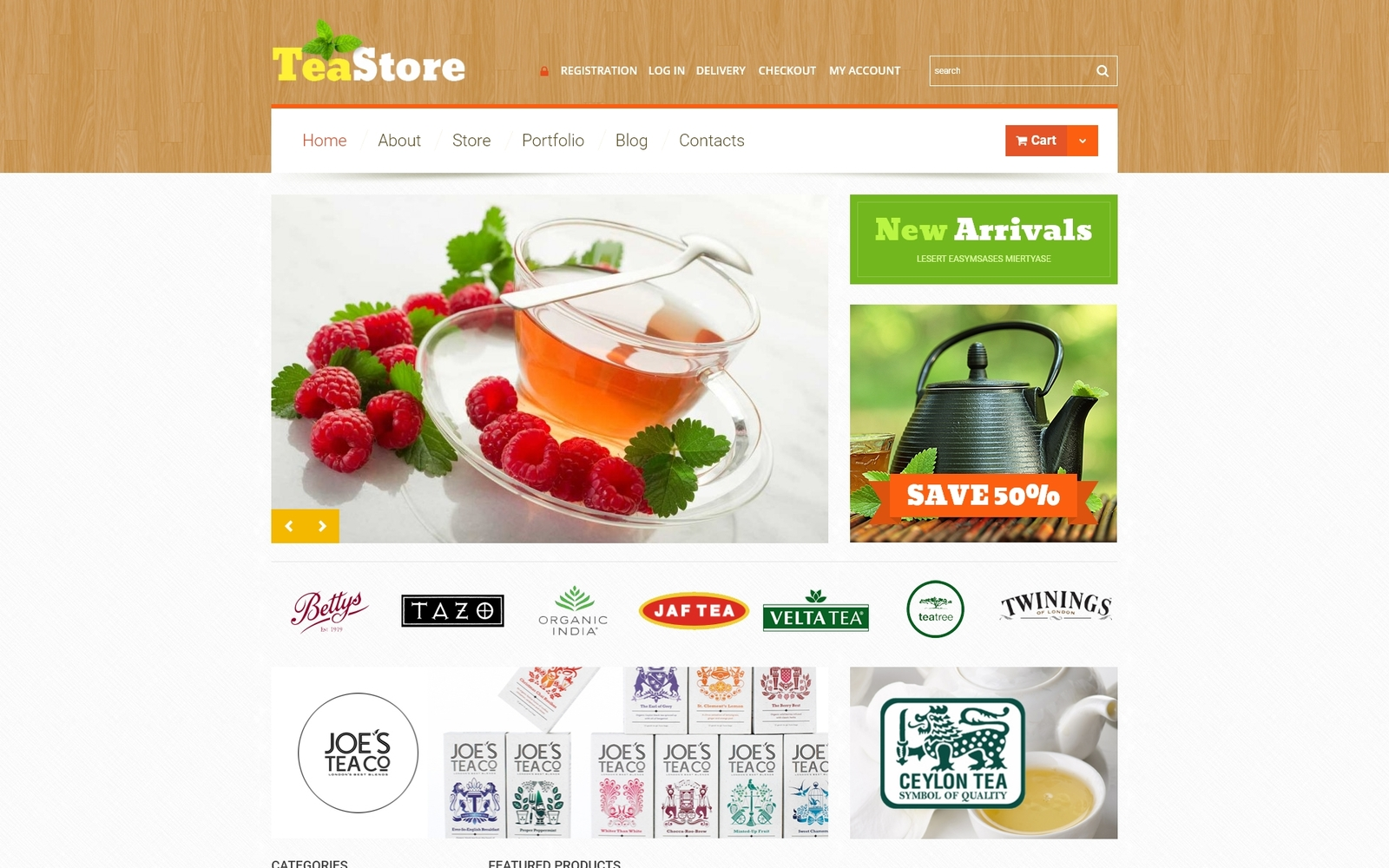 "Tema WooCommerce ""Tea Ceremony"" #51202"