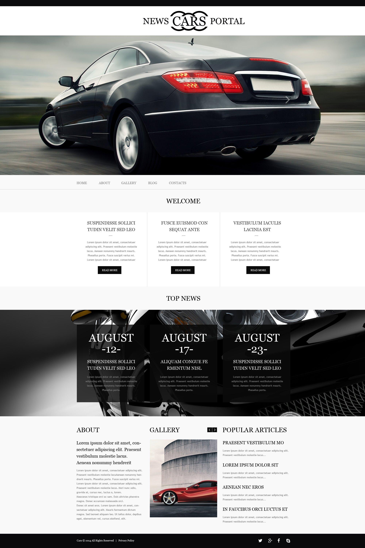 Template Muse para Sites de Clube de Carros №51228