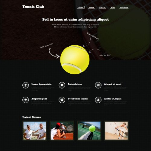 Tennis Club - Sports Store Template based on Bootstrap