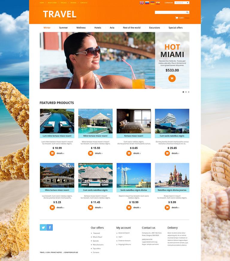 Travel Agency OsCommerce Template New Screenshots BIG
