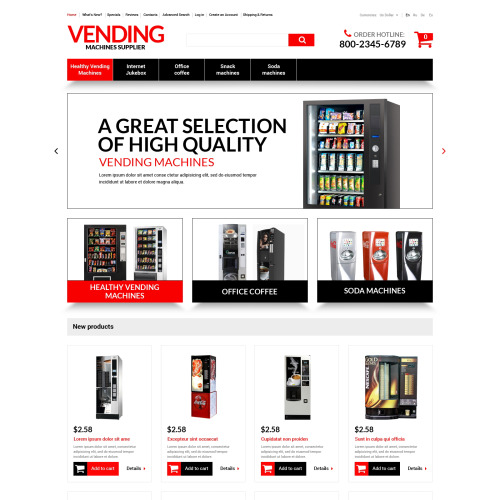 Vending Machines Supplies - osCommerce Template