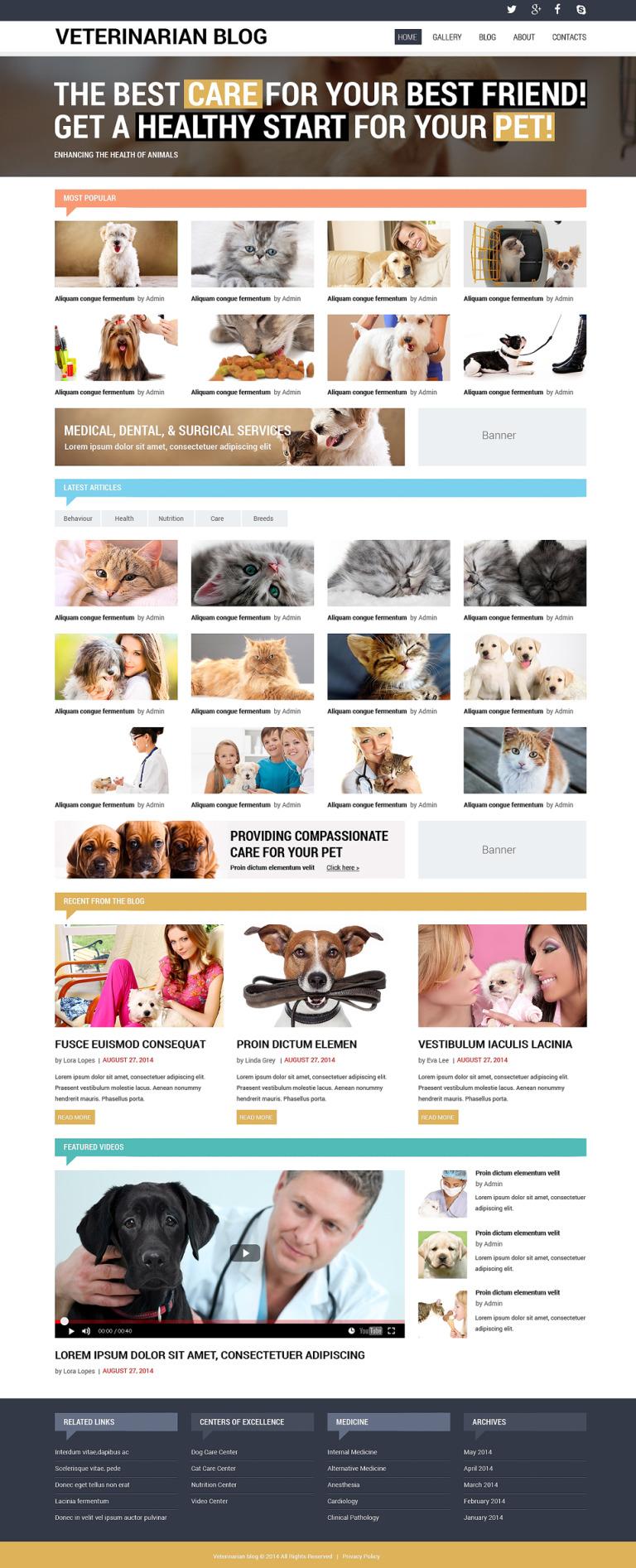 Vet Responsive Website Template New Screenshots BIG