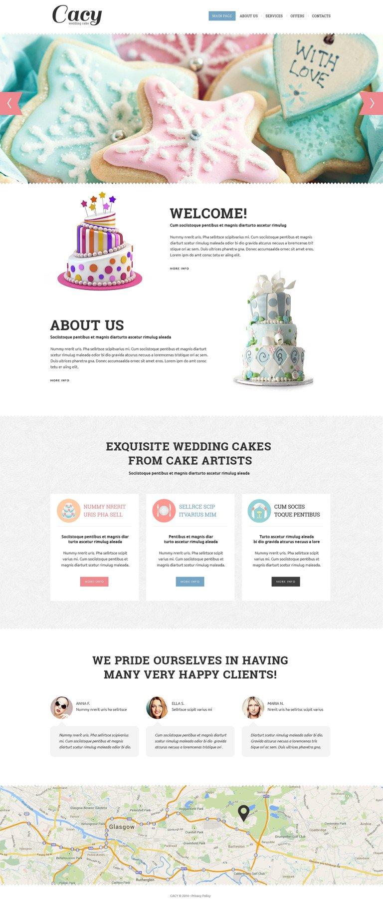 Wedding Cake Responsive Website Template New Screenshots BIG