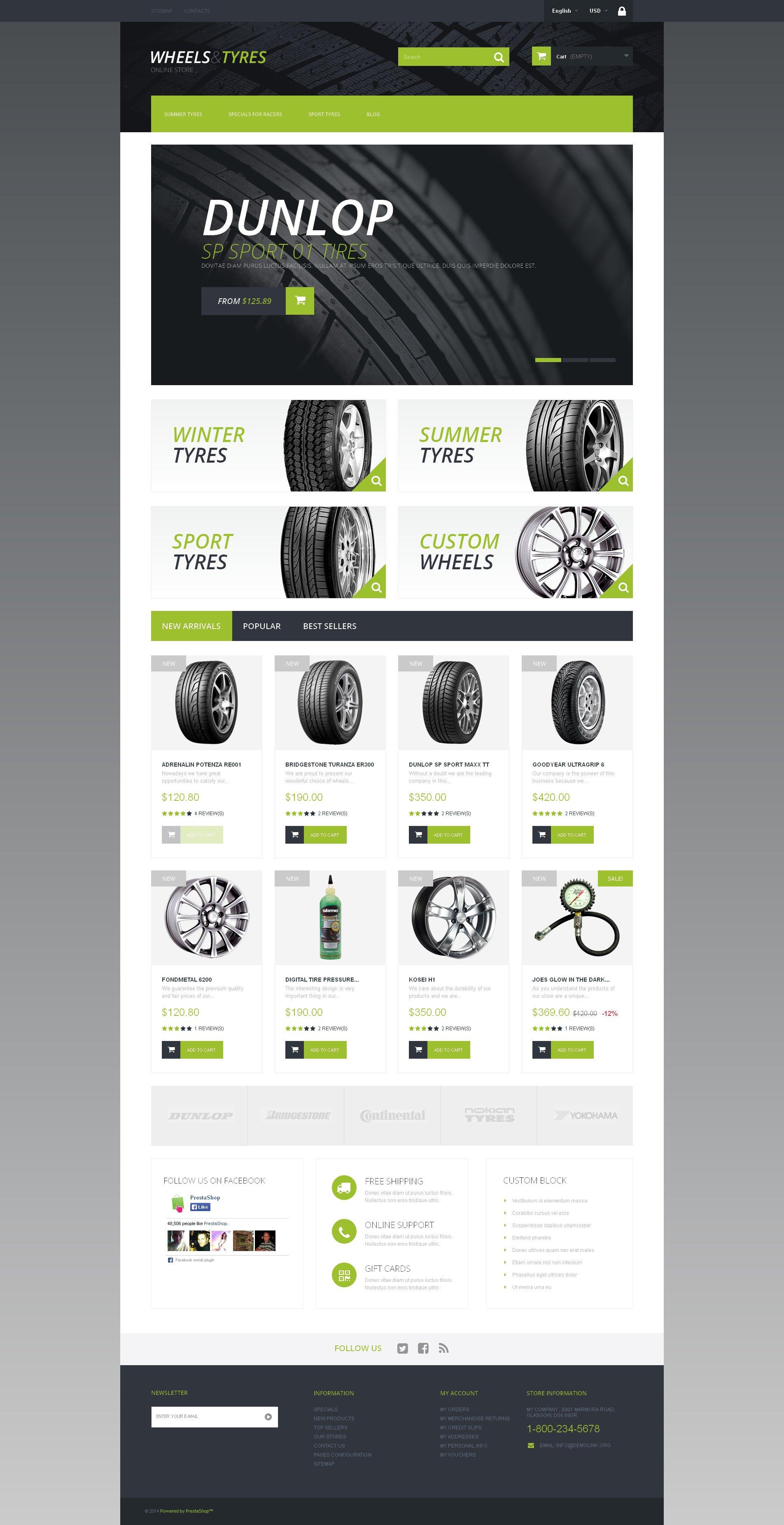 Wheels and Tyres PrestaShop Theme