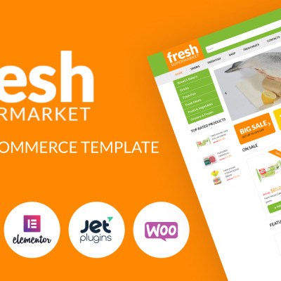 "WooCommerce шаблон ""Fresh Fresh - Supermarket Woocommerce Template for easy sales"" #51254"