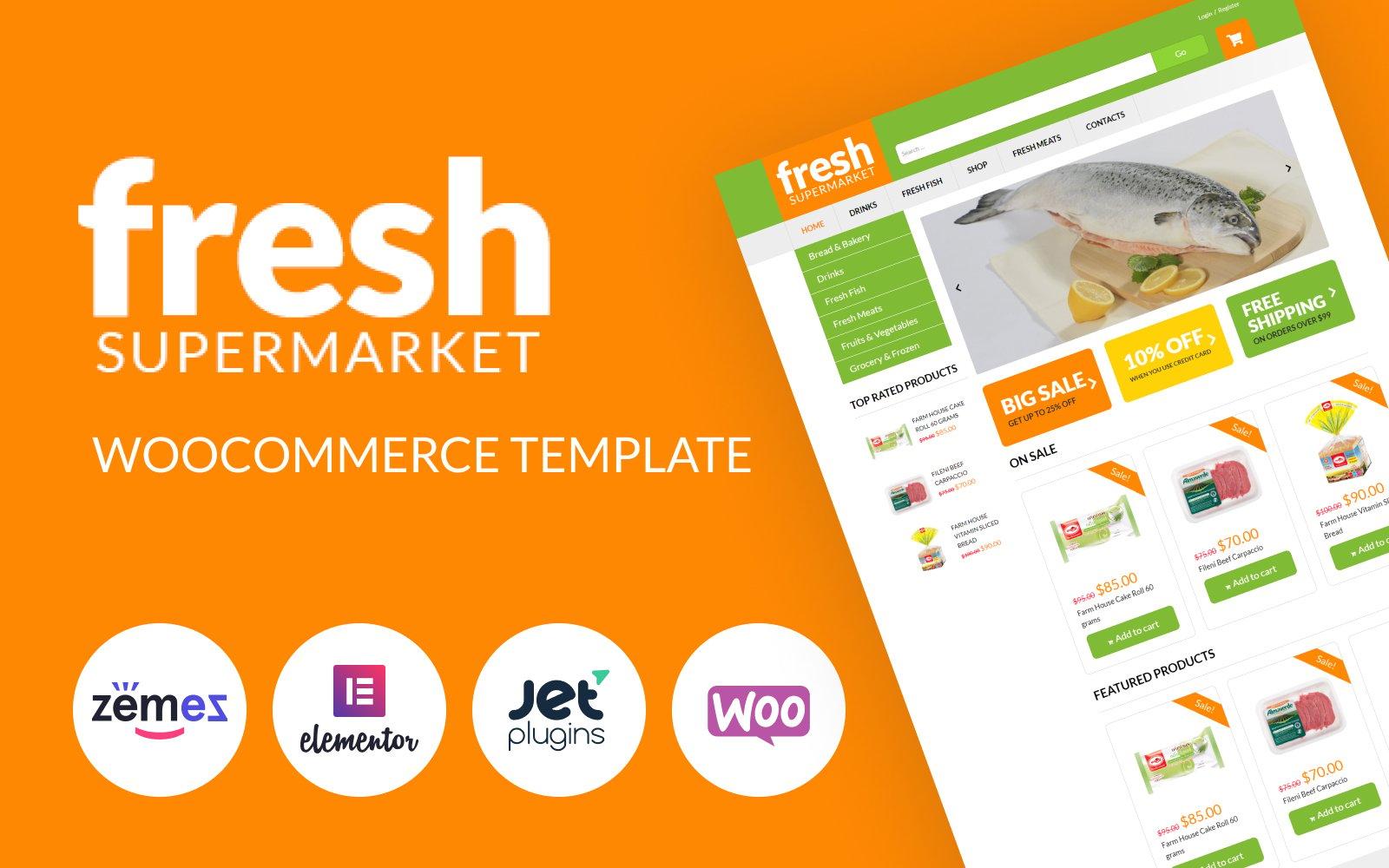 "WooCommerce Theme namens ""Lebensmittel-Online-Shop"" #51254"