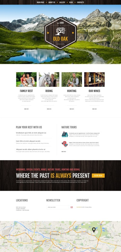 Responsives WordPress Theme für Reisen