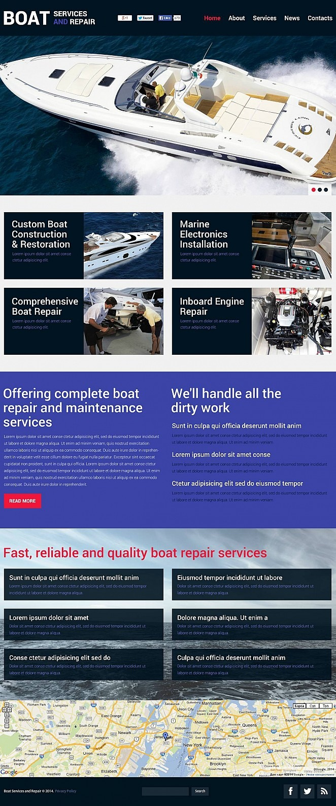 Yachting Flash CMS Template New Screenshots BIG