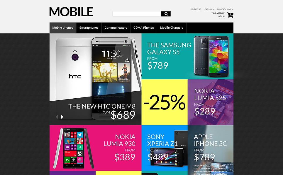 Responzivní PrestaShop motiv na téma Prodejna mobilních telefonů New Screenshots BIG