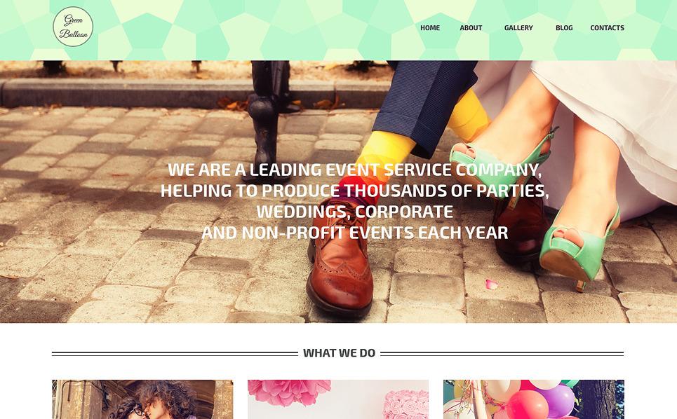 Reszponzív Eseménytervezők WordPress sablon New Screenshots BIG