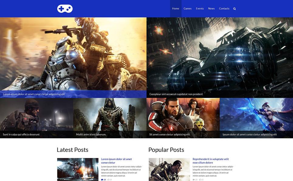 Responzivní Šablona webových stránek na téma Herní portál New Screenshots BIG