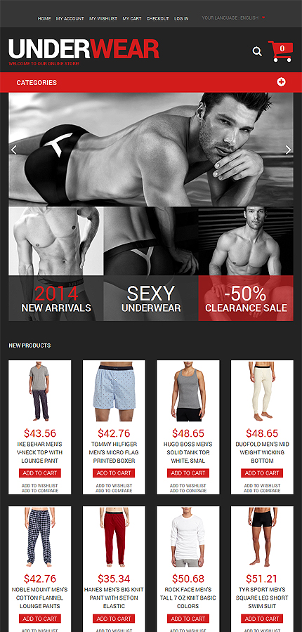 Magento Theme/Template 51321 Main Page Screenshot