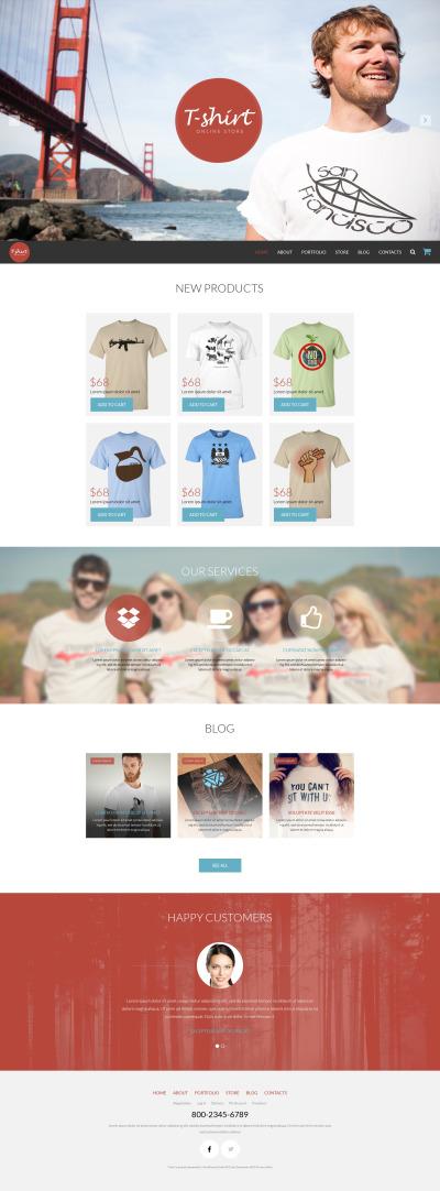 T-shirtbutik Responsivt WooCommerce-tema