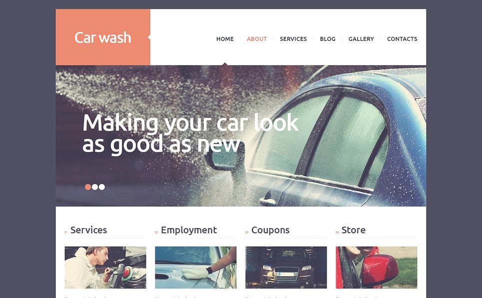 Reszponzív Autómosók Joomla sablon New Screenshots BIG