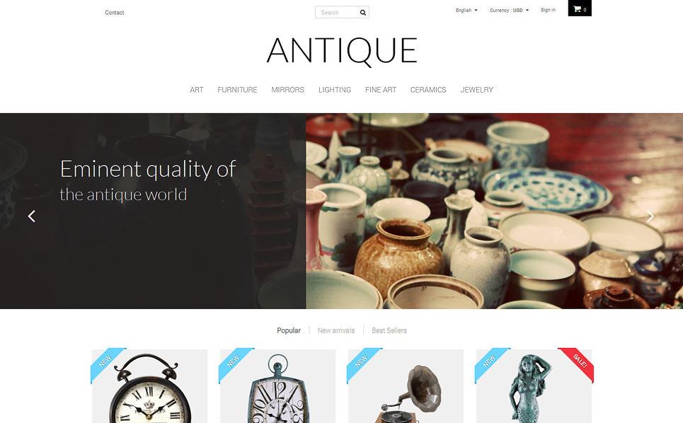 Responsive PrestaShop Thema over Antiekwinkel  New Screenshots BIG