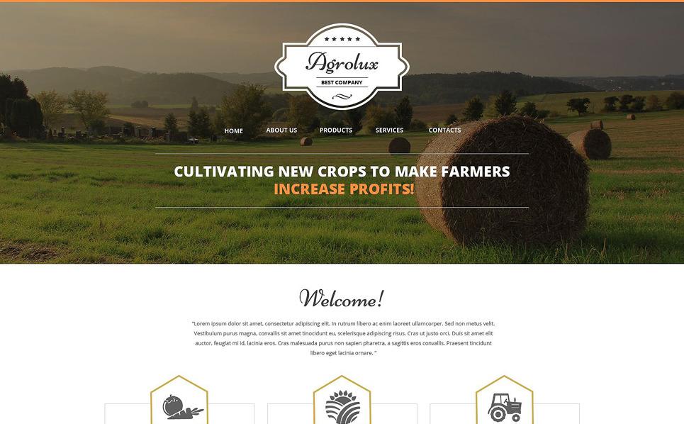 Responsive Website template over Landbouw  New Screenshots BIG
