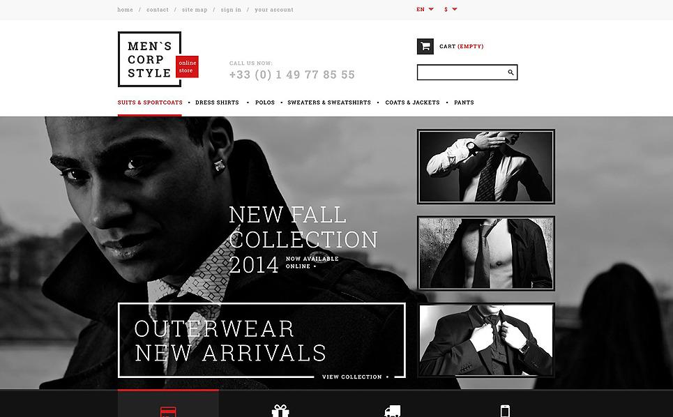Responsywny szablon PrestaShop #51344 na temat: odzież New Screenshots BIG