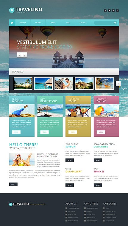 WordPress Theme/Template 51349 Main Page Screenshot