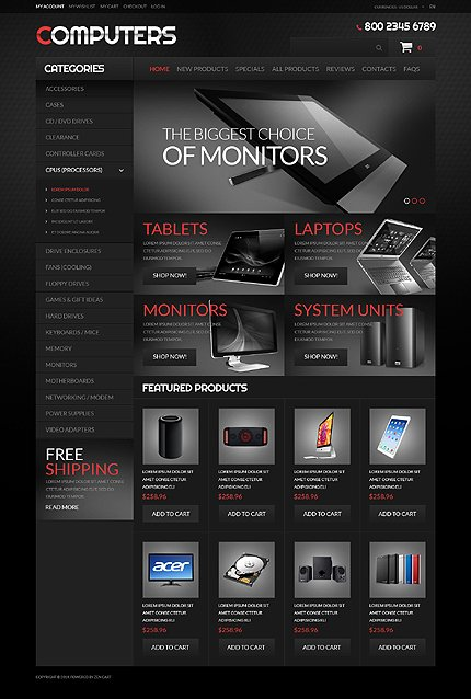 ZenCart Template 51350 Main Page Screenshot