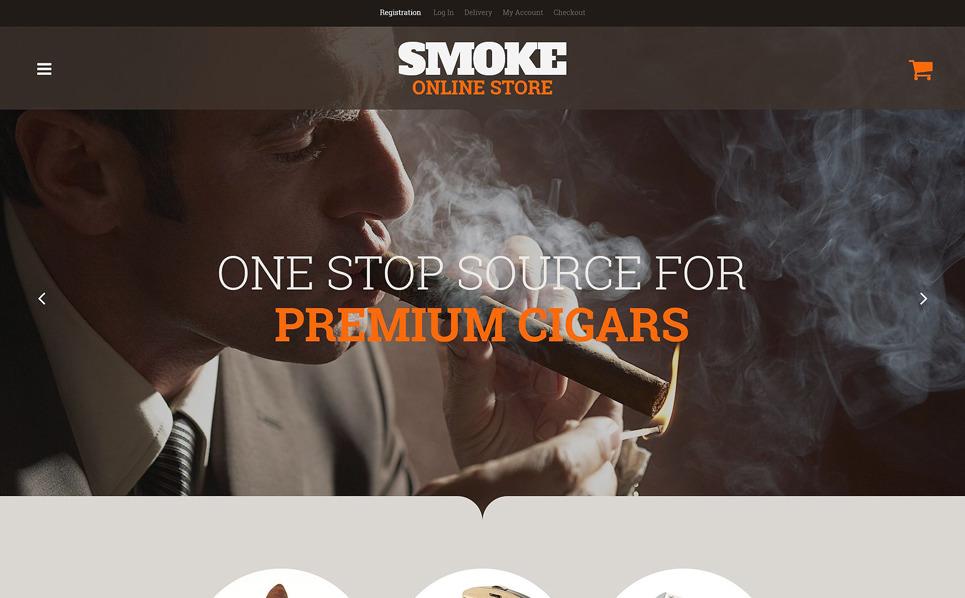 Responzivní WooCommerce motiv na téma Tabák New Screenshots BIG