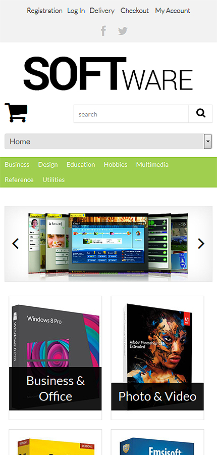 ADOBE Photoshop Template 51356 Home Page Screenshot