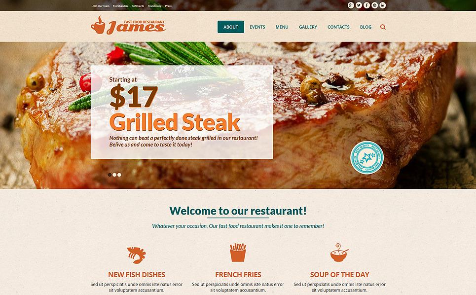 Template Joomla Flexível para Sites de Fast Food №51360 New Screenshots BIG