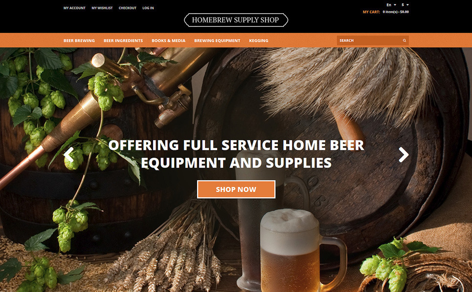 Адаптивний Magento шаблон на тему пивоварня New Screenshots BIG