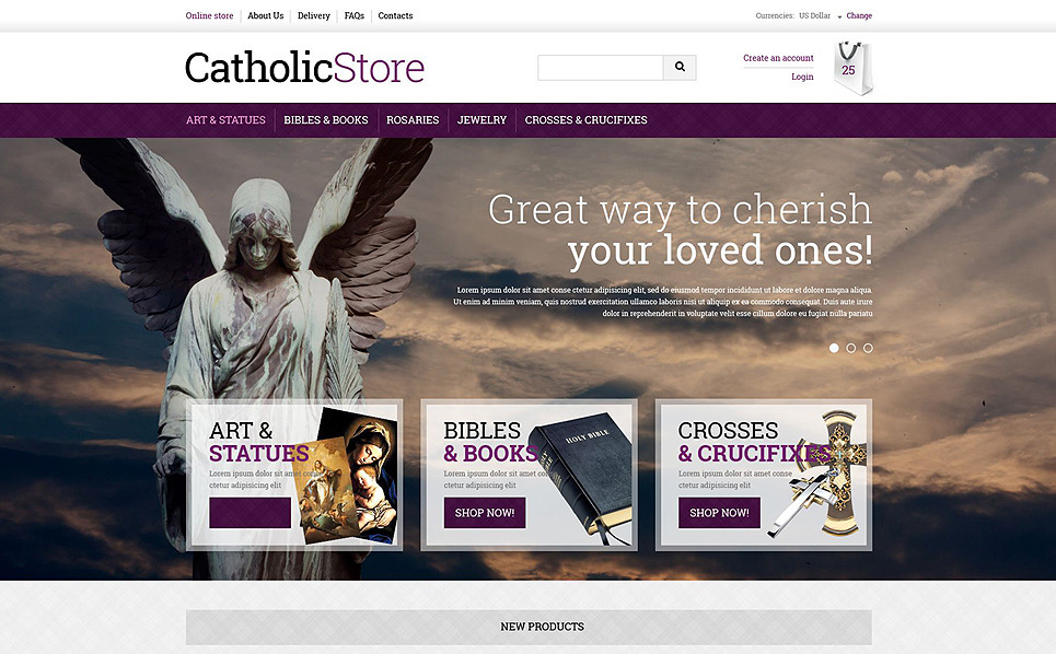 Plantilla VirtueMart #51365 para Sitio de Iglesia católica New Screenshots BIG