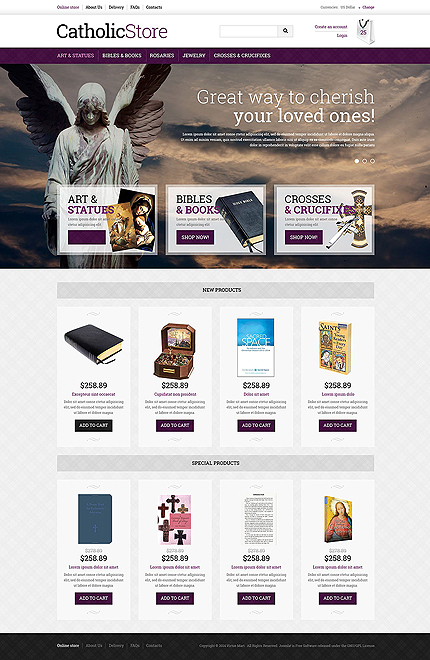 ADOBE Photoshop Template 51365 Home Page Screenshot