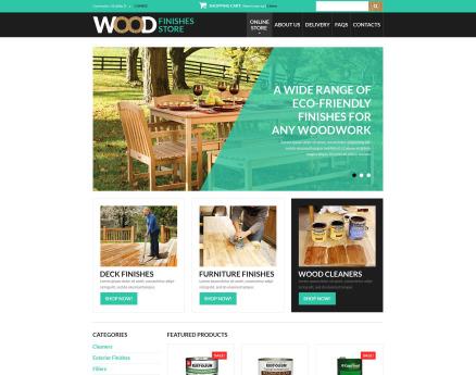 Wood Finishes Store VirtueMart Template