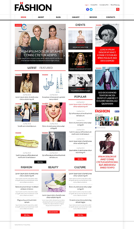 WordPress Theme/Template 51367 Main Page Screenshot