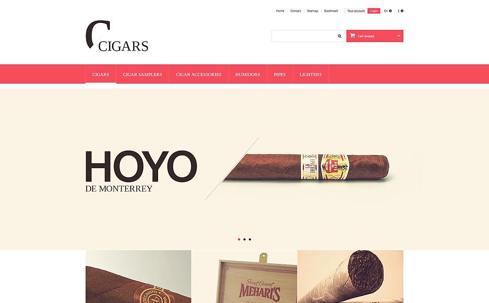 Tema PrestaShop  Flexível para Sites de Tabaco №51373 New Screenshots BIG
