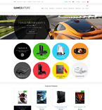 Games ZenCart  Template 51374