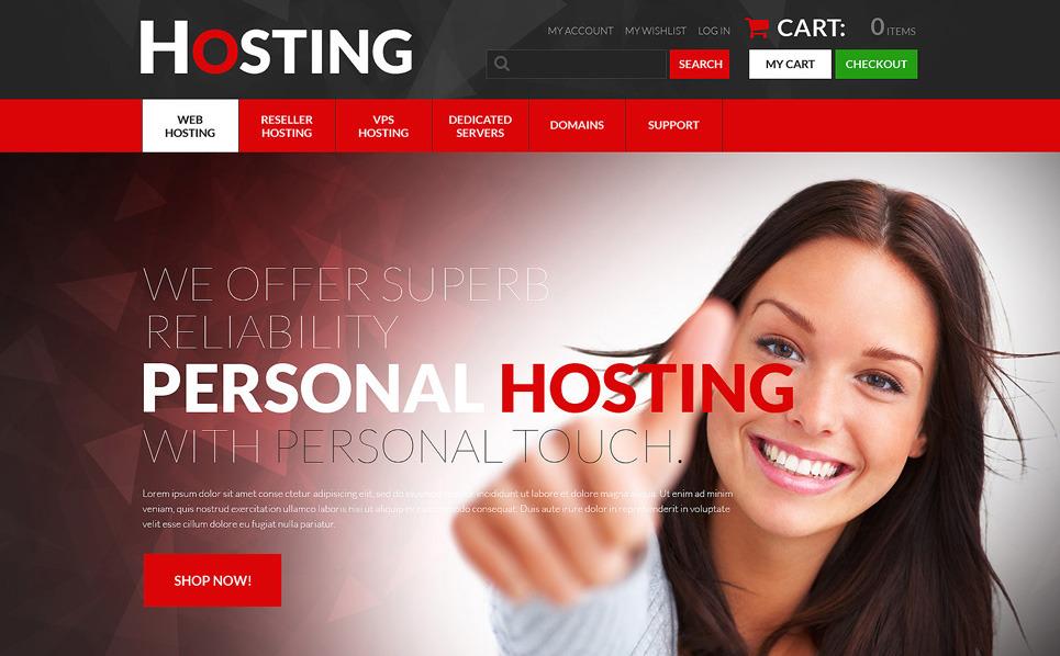 Tema PSD  #51381 per Un Sito di Hosting New Screenshots BIG