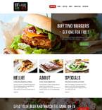 Cafe & Restaurant Joomla  Template 51384