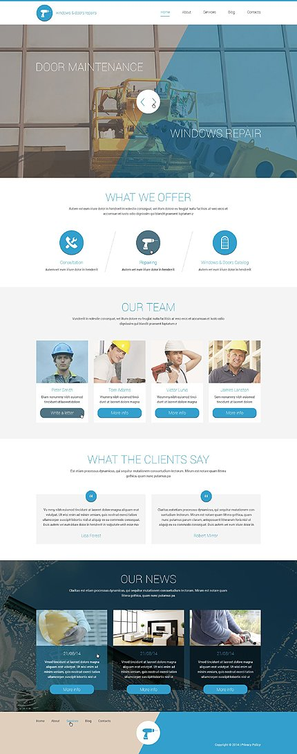 WordPress Theme/Template 51393 Main Page Screenshot