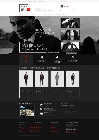 Адаптивный PrestaShop шаблон №51344 на тему магазин одежды