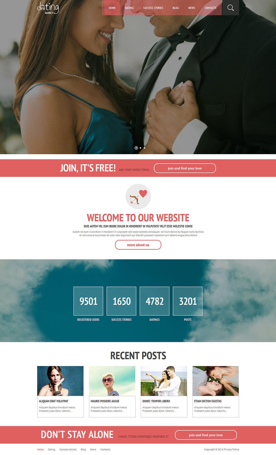 Адаптивный шаблон на тему сайт знакомств #51336