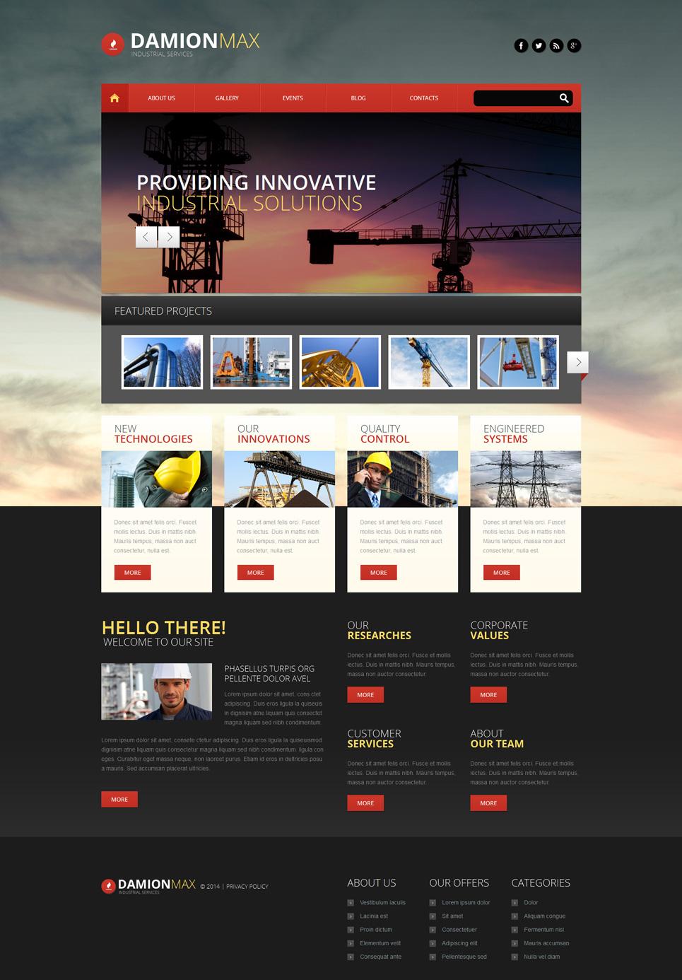 Адаптивный шаблон сайта на тему промышленность #51347