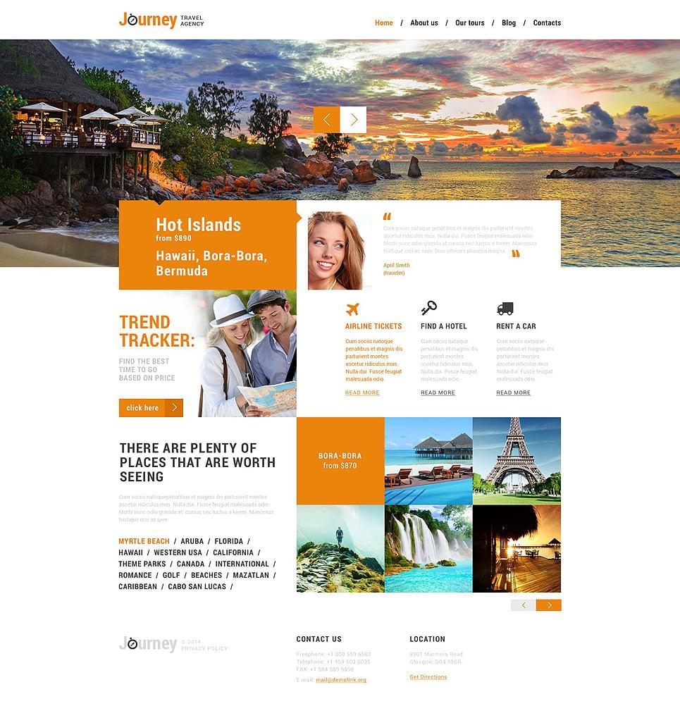 Адаптивный шаблон сайта на тему агентство путешествий #51358