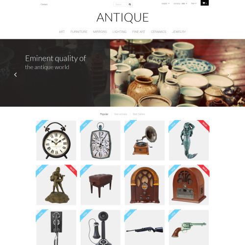 Antique - PrestaShop Template based on Bootstrap