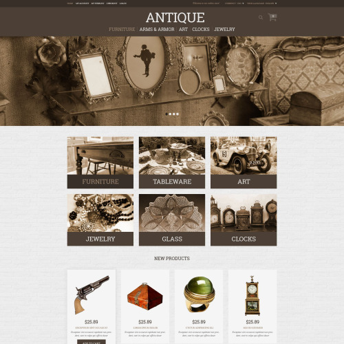 Antique  - Responsive Magento Template