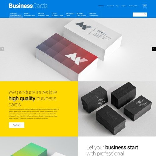 Business Cards - PrestaShop Template based on Bootstrap
