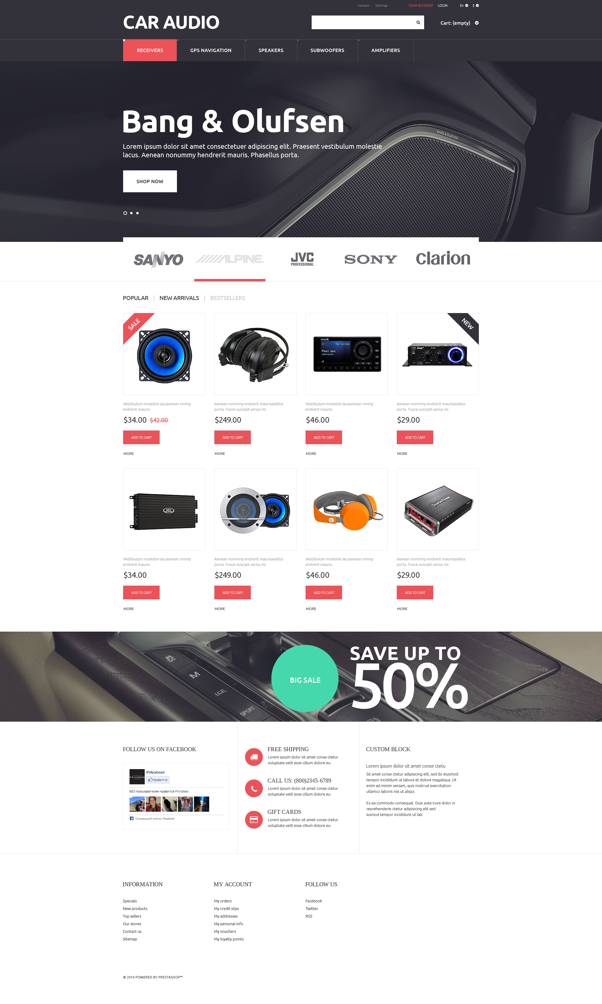 Car Audio  Video PrestaShop Theme